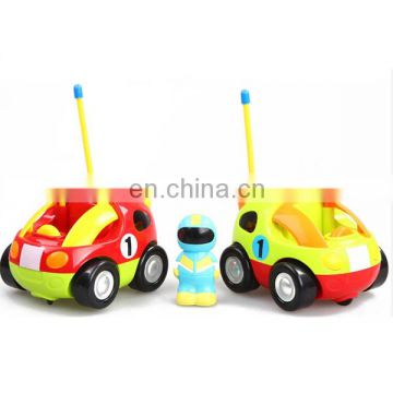 2 channel cartoon rc car with light and music baby toy