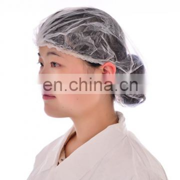 Disposable Beauty Plastic PE Clip Shower Cap for Spa
