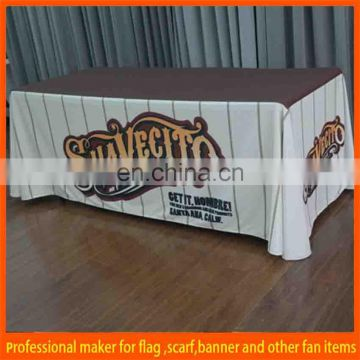 elastic polyester tradeshow table cover