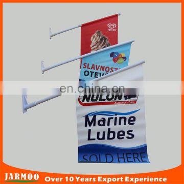 customized shape plastic flagpole wall mount vertical advertising banner