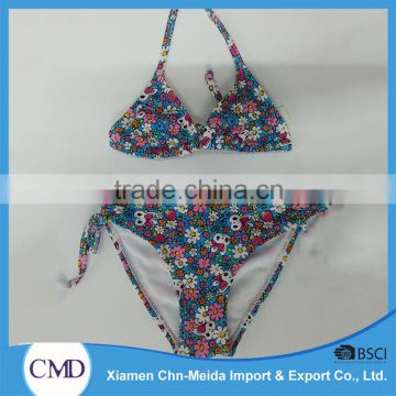 Lovely Floral Print Halter Ladies Bikinis