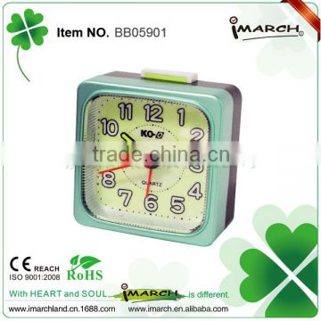 green square shape clock,shining clock,table alarm clock
