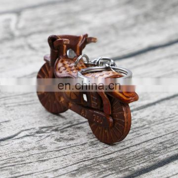 genuine leather custom animal motorcycle keychain