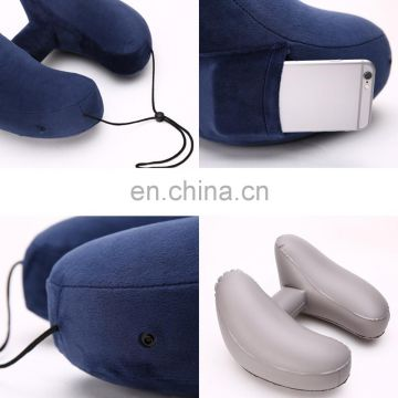 New Design Hat + Inflatable H-pillow U-pillar Airplane Outdoor Pneumatic Pillow Napkin Neck Protect Pillow