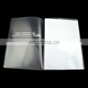 plastic transparent folders with pockets