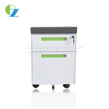 Wholesale factory direct 2 drawer metal movable cabinet