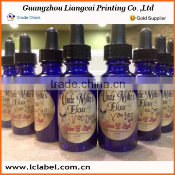 Wholesale PVC material labels for essential oil bottles olive oil