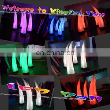 2014 HOT stage/event/party LED inflatable lighted tusk