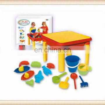 summer plastic play sand and water table desk toy