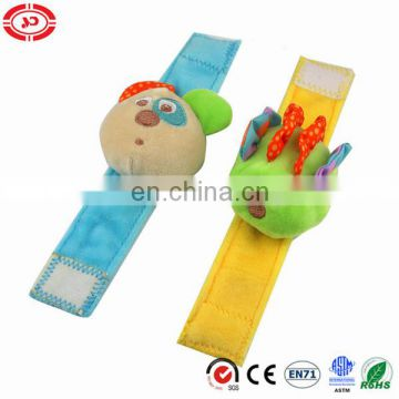 Baby hand wrist cute plush CE custom rattle soft gift set toy