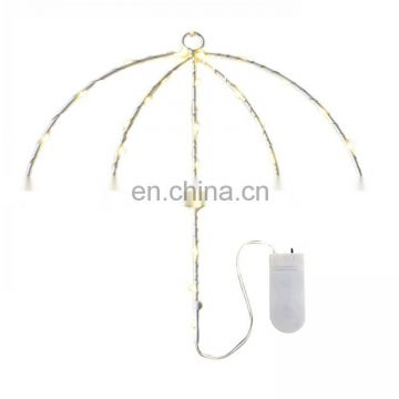 40 LEDs DIY Umbrella Warm White LLED Decorative Light String Light With Hook for Party light