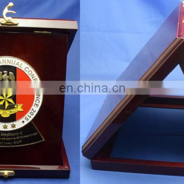 Nigeria Annual conference metal wood souvenir trophy plaque