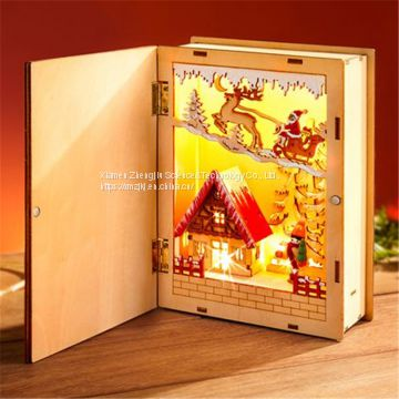 LED wooden book \