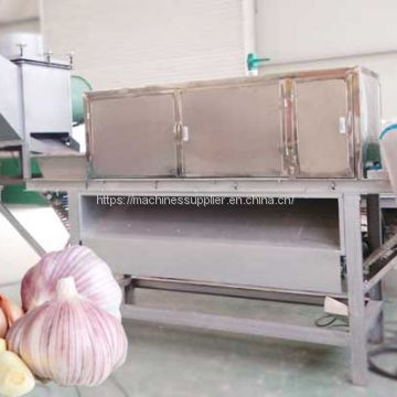 Dry garlic peeling peeler shelling sheller process machine garlic process machine Chain-type 1000-1500kg/h