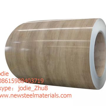 3D wooden design prepainted galvanized steel coil