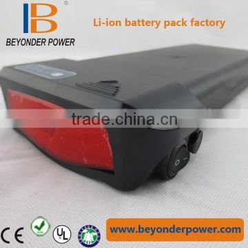 New rear rack ebike battery pack 36V 8.8/10Ah for electric bicycle