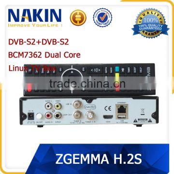 Genuine Zgemma H 2S twin tuner Dual Core satellite receiver