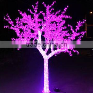 Home garden decorative 260cm Height outdoor artificial blue flashing LED solar lighted up trees EDS06 1427