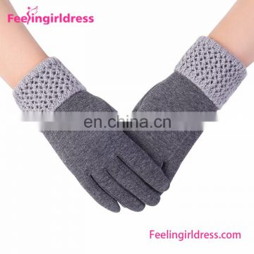 Factory Supplier Girl Fashion Winter Hand Gloves