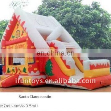 New Christmas house Inflatable bouncer slide