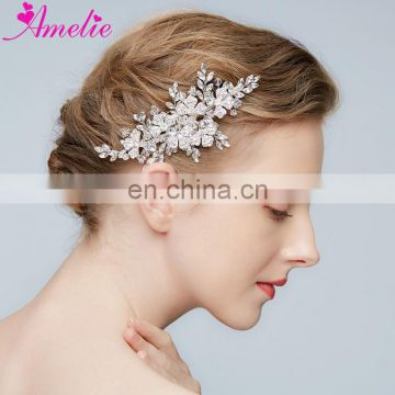 Modern Classic Crystal Hair Side Comb Marquise Stone Bridal Bridesmaids Comb Women Headpiece Prom Cocktail Party Dresses Jewelry