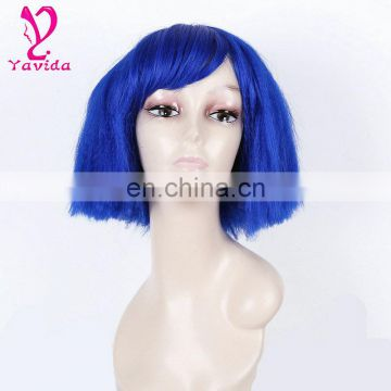 2016 Latest Plus Size Sexy Short Wig Cosplay blue color