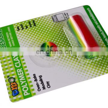 Blister card single package unbaked polymer clay cane for DIY