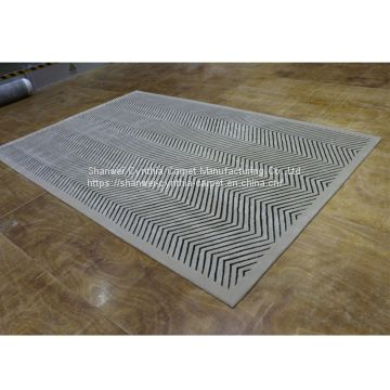 White&Black Horizon Carpet Import From China