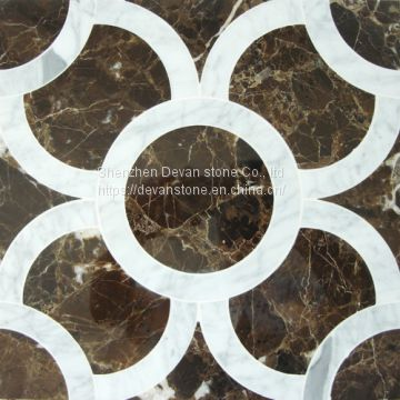 hot selling marble mosaic waterjet cut mosaic for bathroom