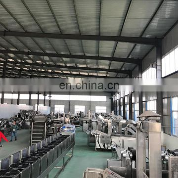 Frozen French Fries Making Machine fully automatic potato chips production line