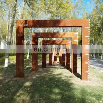 Rusty CORTEN steel garden decoration