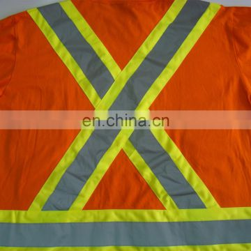 security T-shirts OEM service high quality short sleeve high Viz mens workwear moisture wicking safety shirt