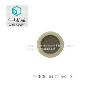 Haining jiajie rubber&plastic wrapping filter mesh gasket on water filter