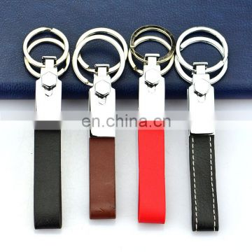 China Manufacturers Wholesale leather and Metal Custom Logo Keychain/Key chain