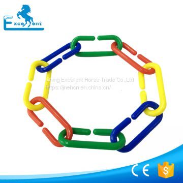Durable plastic counting c chain links for educational toy