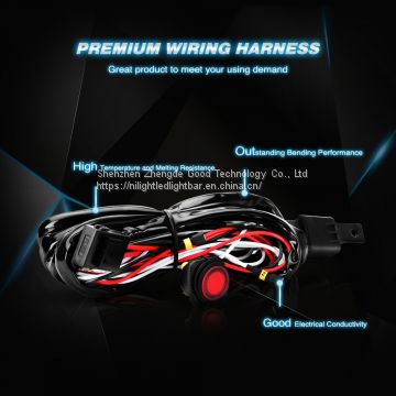 Nilight off Road LED Light Bar Wiring Harness Kit 12V Relay on/ff Rocker Switch ATV Jeep Truck