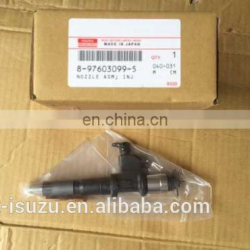 8-97603099-5 for 4HK1/6HK1 common rail injector with diesel motor