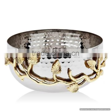 decorative fancy hammered metal bowl