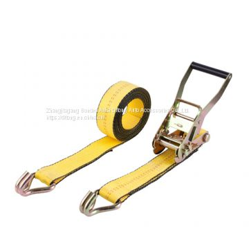 2 Inches 50MM Ratchet Buckle Lashing Strap with Swan Hooks