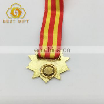 2017 Newest 3D Design Five-Pointed Shaped Sports Medal With Ribbon