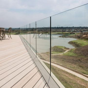 Cheap Price Frameless Aluminum U Base Channel Glass Balustrade for Outdoor Decking