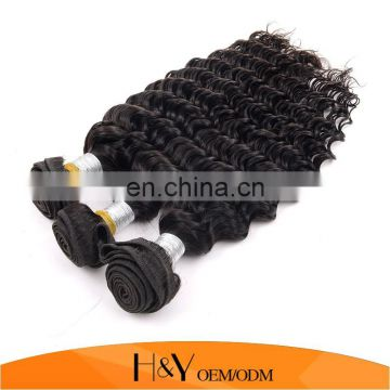 Unprocessed Natural raw Indian hair 100% human hair extention deep wave cheap hair