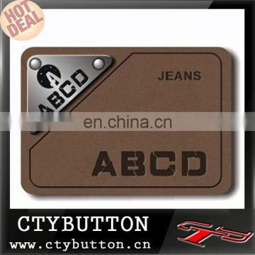 various size color pattern custom Leather Label for bag