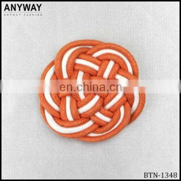 Colorful Leather Material Knot Chinese Frog Button