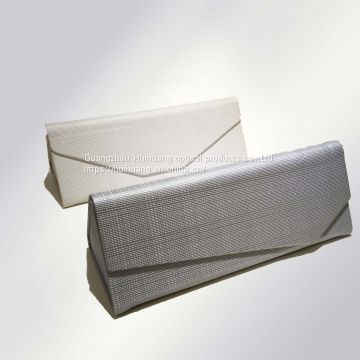 Simple, business style, portable triangle-folded manual glasses case