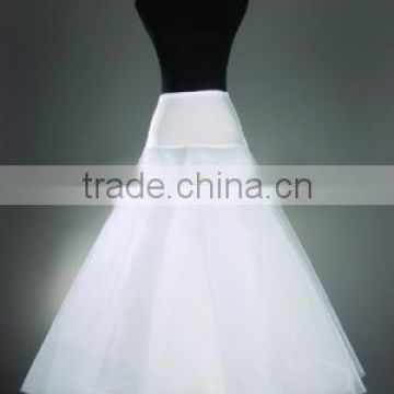 Cheap White A-Line Petticoats for Wedding Dresses 1 Hoop Crinoline Bridal Gowns Wedding Accessories J