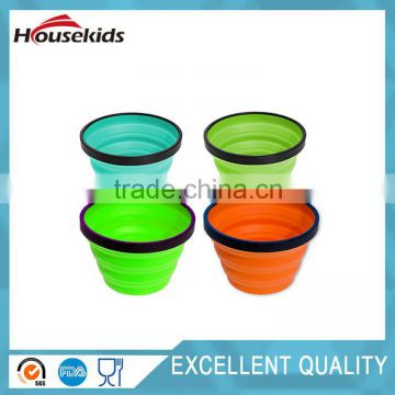 Silicone Collapsible Travel Cup x-sized 100% Food-grade Silicone Mug for Camping and Hikin