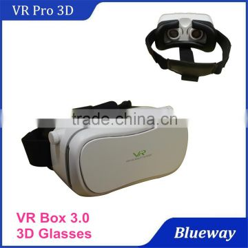 New Products 2016 Best selling VR Pro Box 3.0 3D Virtual Reality Helmet Video Glasses With Remote Controller                                                                         Quality Choice