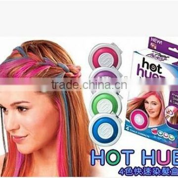 Hot 4 colors/set Hair care products Colorful Round Temporary Non allergic hair Dye Hair Chalk
