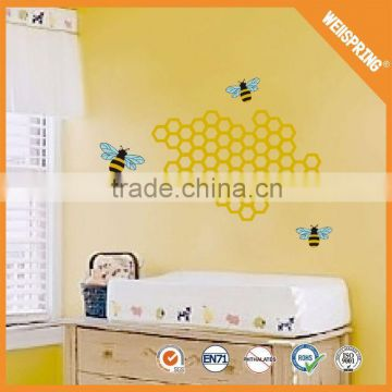 2015 Hot new lovely 3d cartoon bee wall sticker factory directly